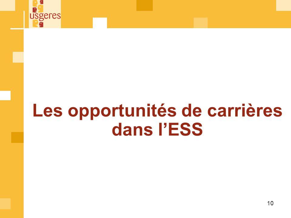Les opportunités de carrières dans l'ESS