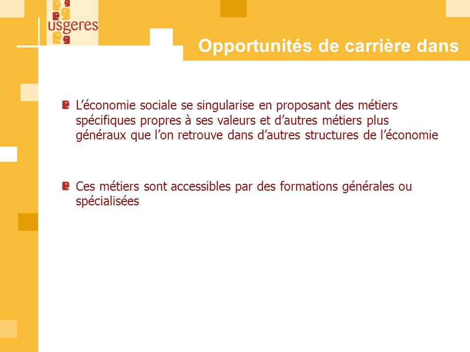 Opportunités de carrière dans l'l'ESS