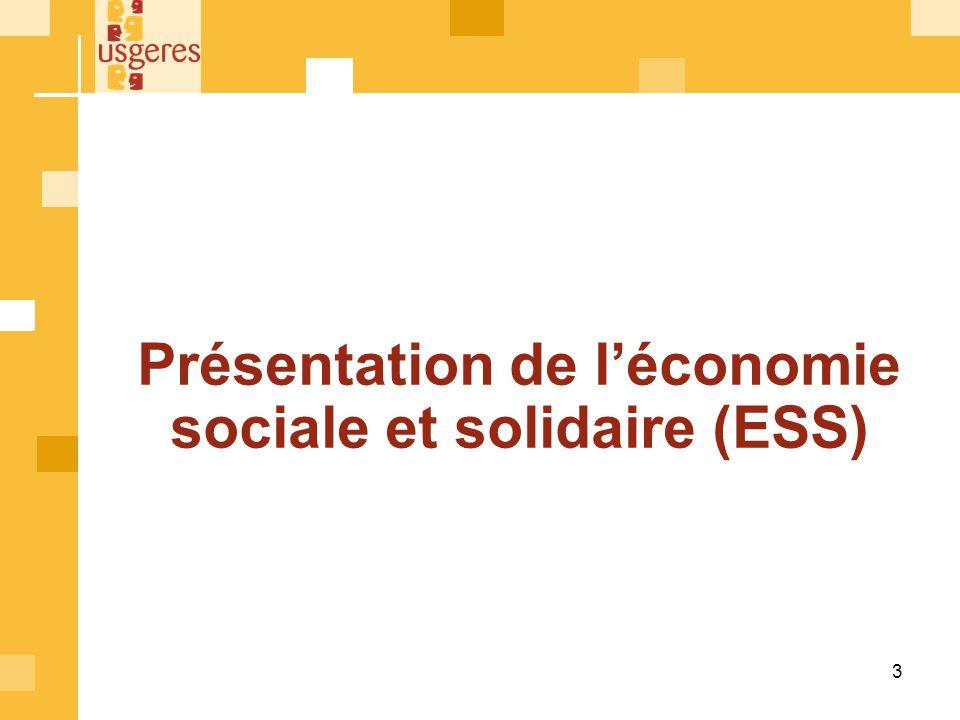 Présentation de l'économie sociale et solidaire (ESS)