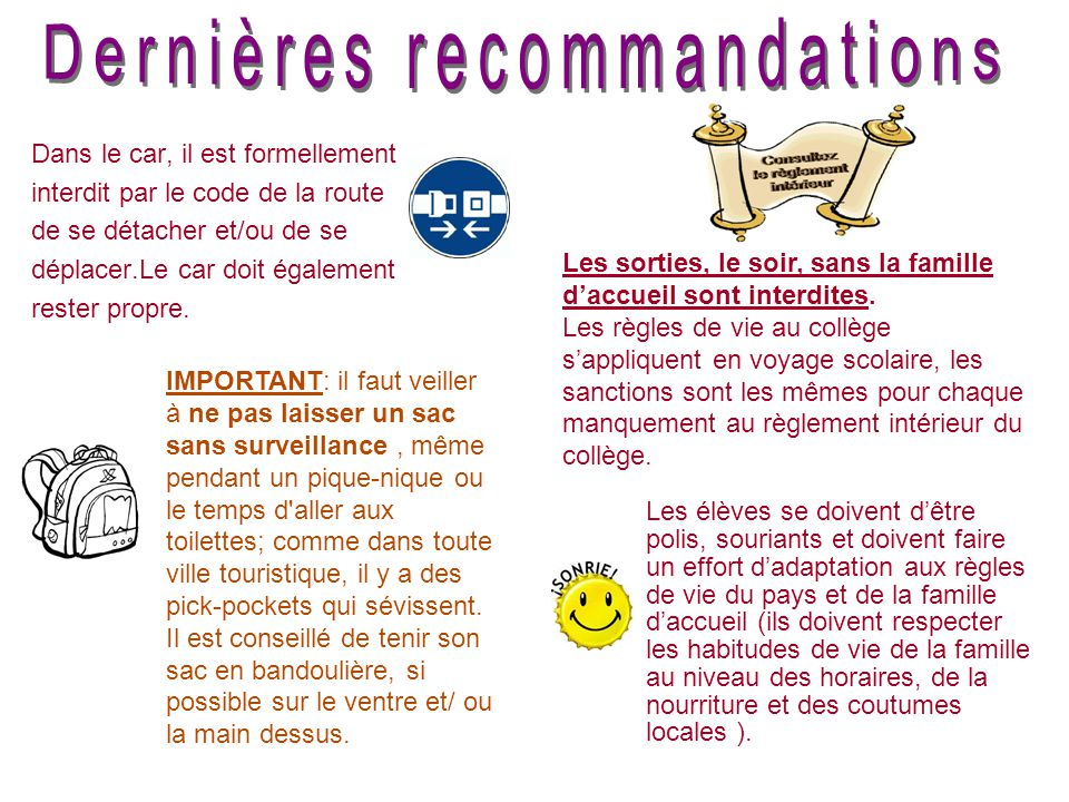 Dernières recommandations