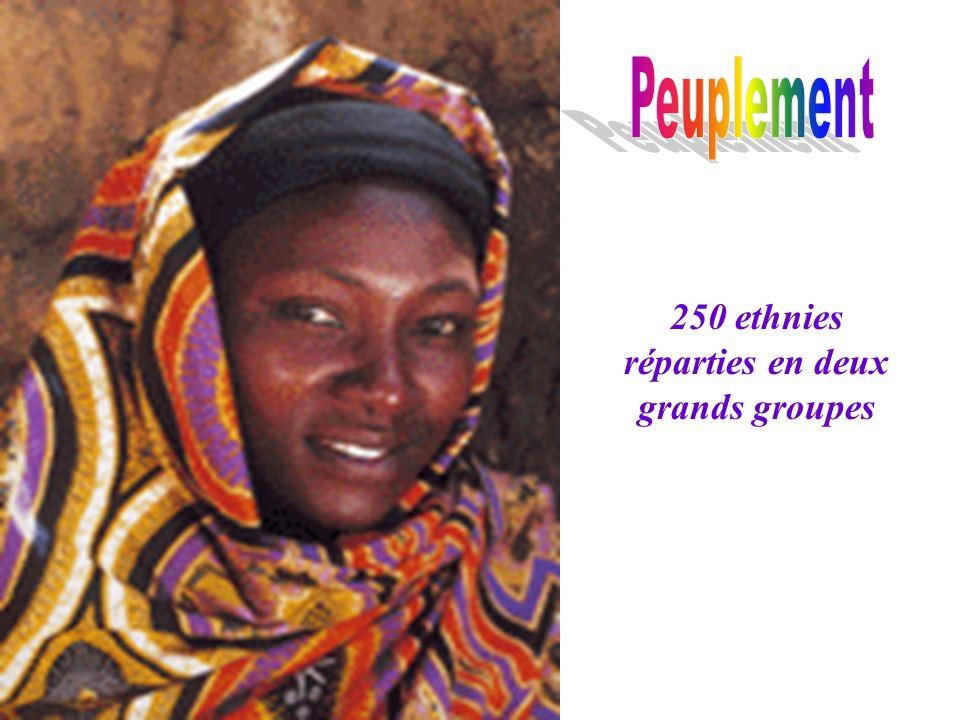 250 ethnies réparties en deux grands groupes