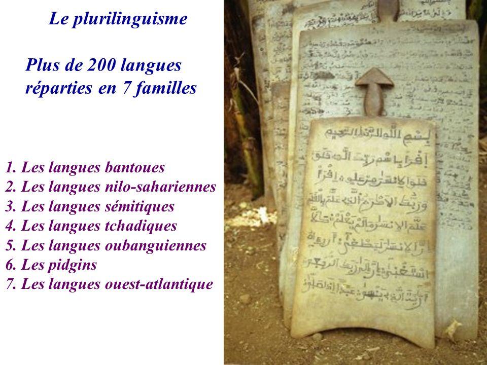 Le plurilinguisme Plus de 200 langues réparties en 7 familles