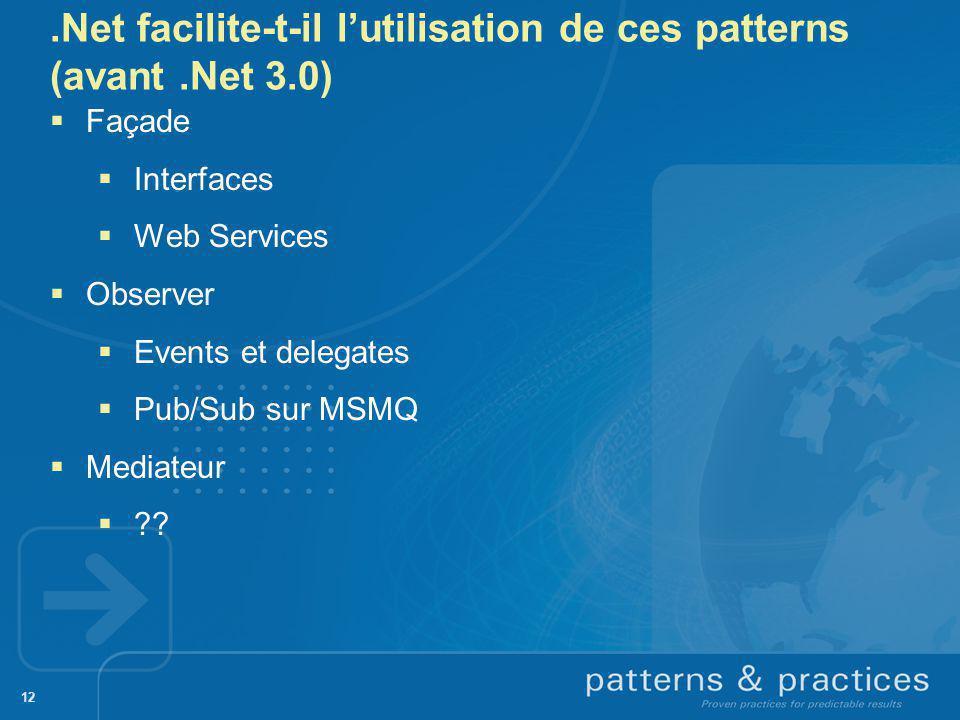 .Net facilite-t-il l'utilisation de ces patterns (avant .Net 3.0)