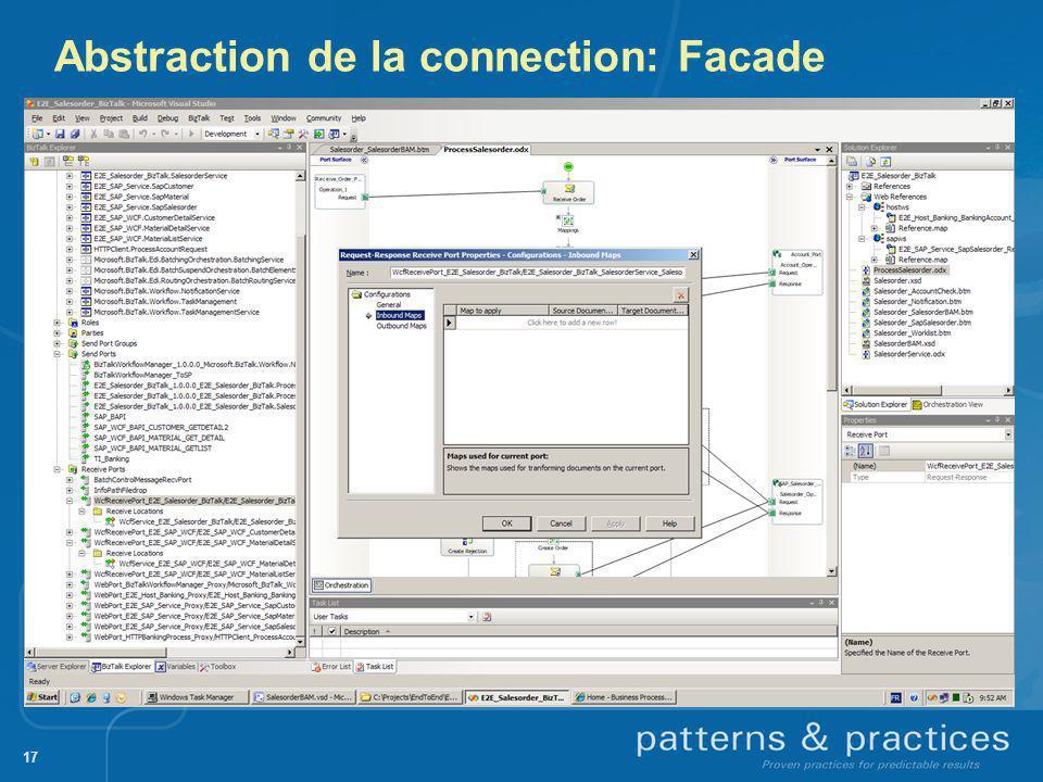 Abstraction de la connection: Facade