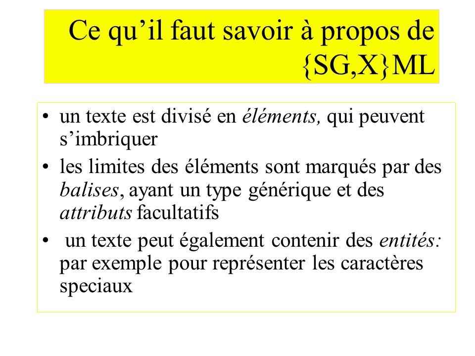 Ce qu'il faut savoir à propos de {SG,X}ML