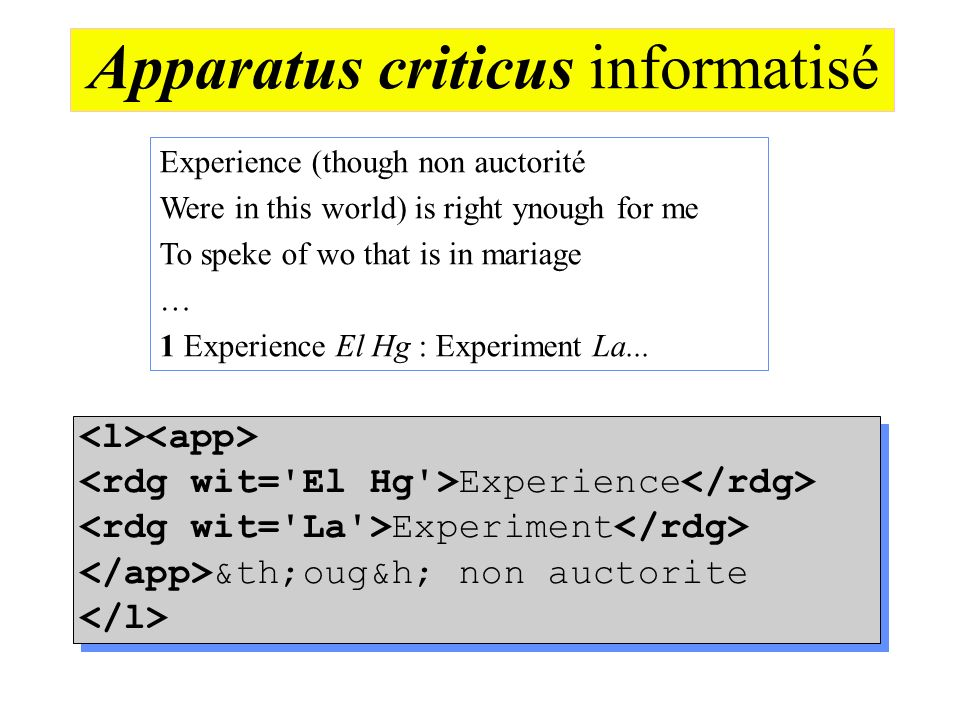 Apparatus criticus informatisé
