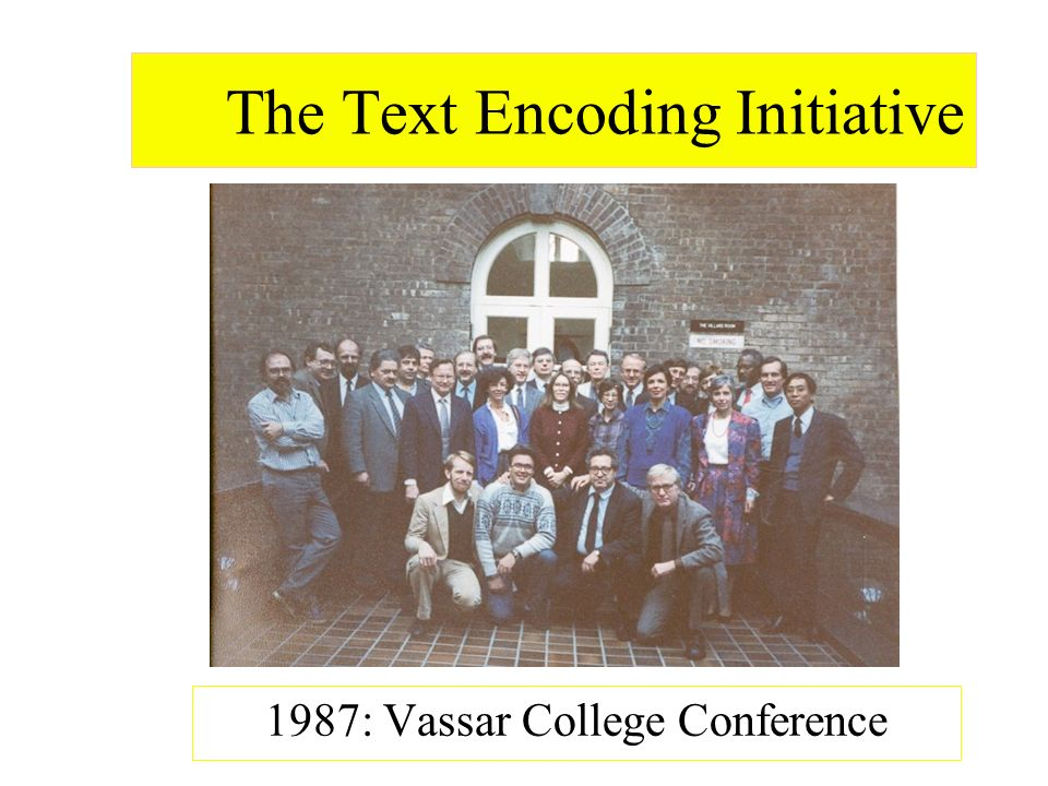 The Text Encoding Initiative