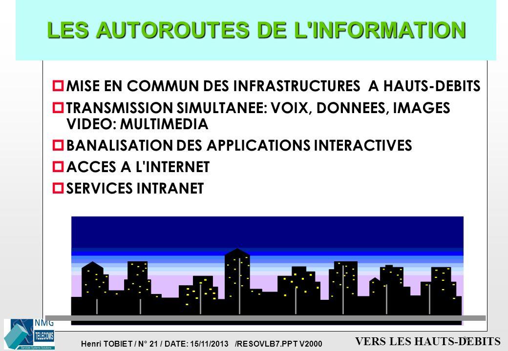 LES AUTOROUTES DE L INFORMATION