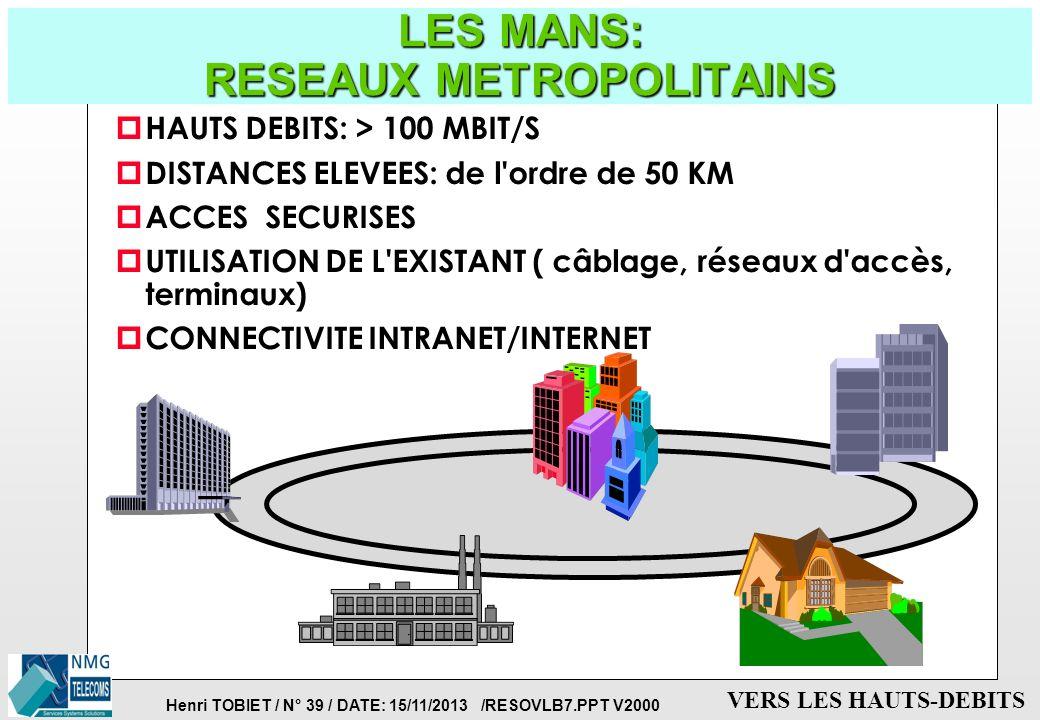 LES MANS: RESEAUX METROPOLITAINS