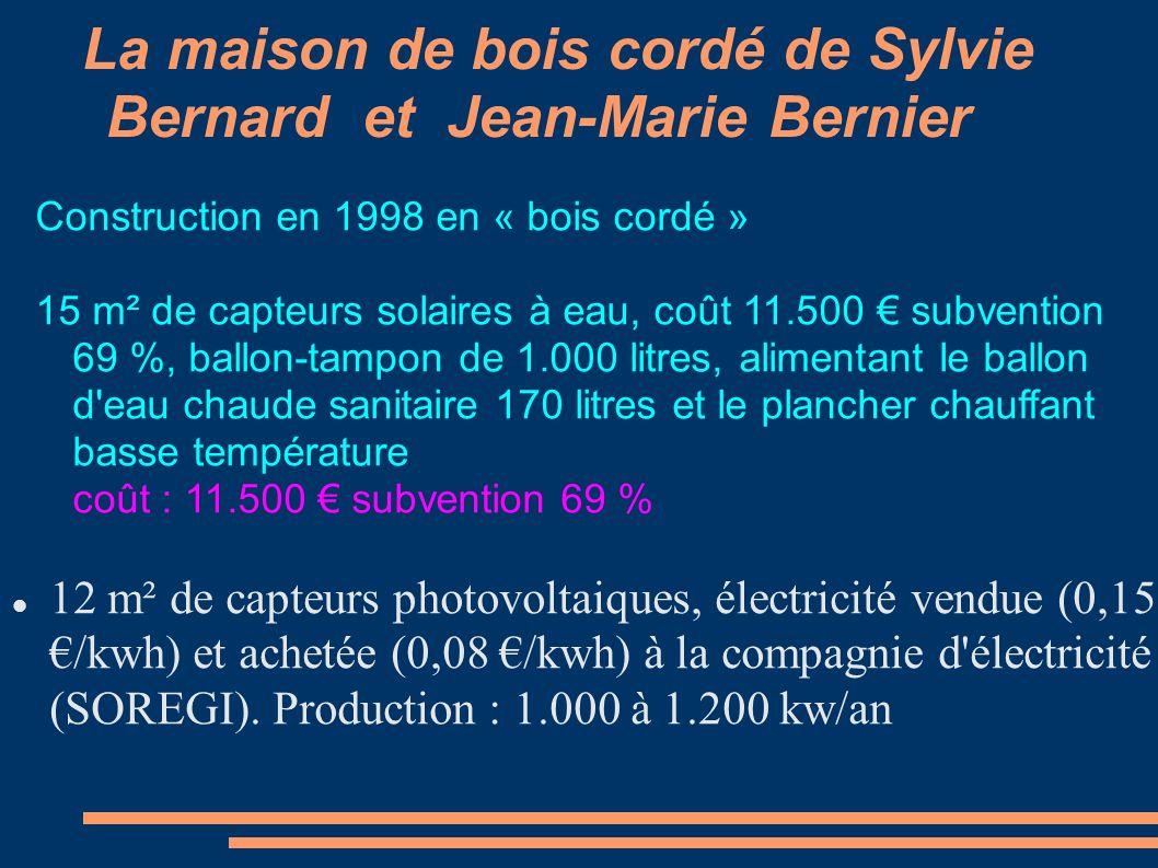 La maison de bois cordé de Sylvie Bernard et Jean-Marie Bernier