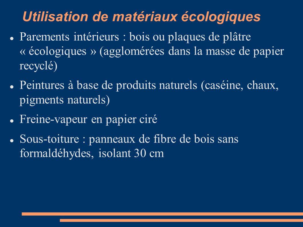 Utilisation de matériaux écologiques