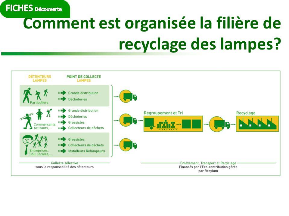 Comment est organisée la filière de recyclage des lampes