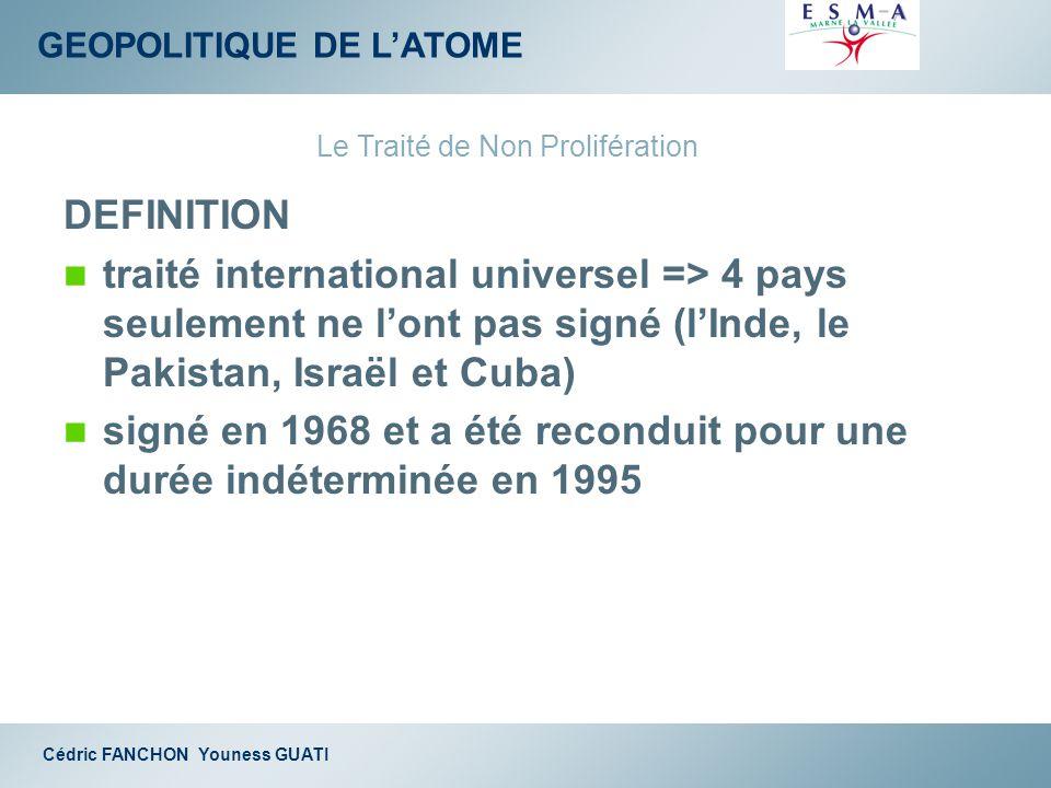 Le Traité de Non Prolifération