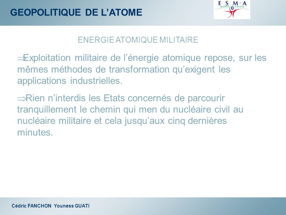 ENERGIE ATOMIQUE MILITAIRE