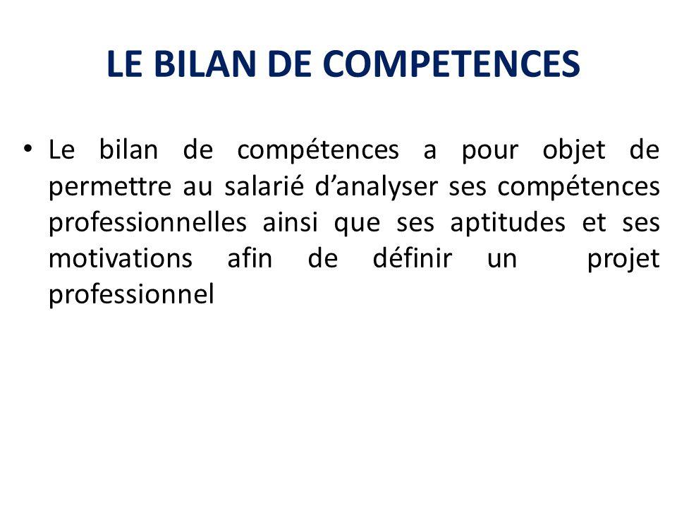 LE BILAN DE COMPETENCES