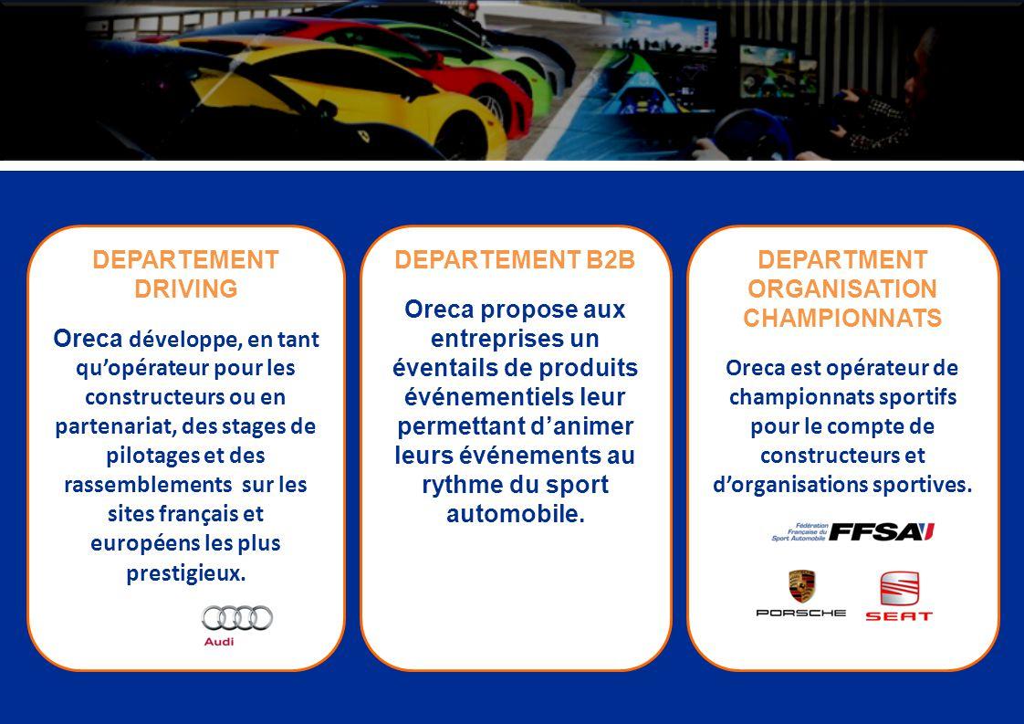 DEPARTMENT ORGANISATION CHAMPIONNATS