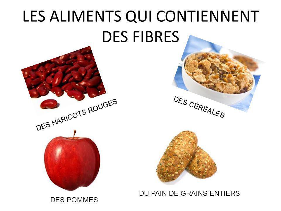 LES ALIMENTS QUI CONTIENNENT DES FIBRES