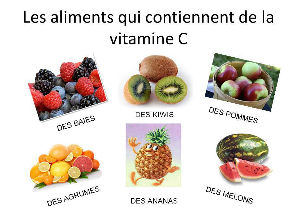 Les aliments qui contiennent de la vitamine C