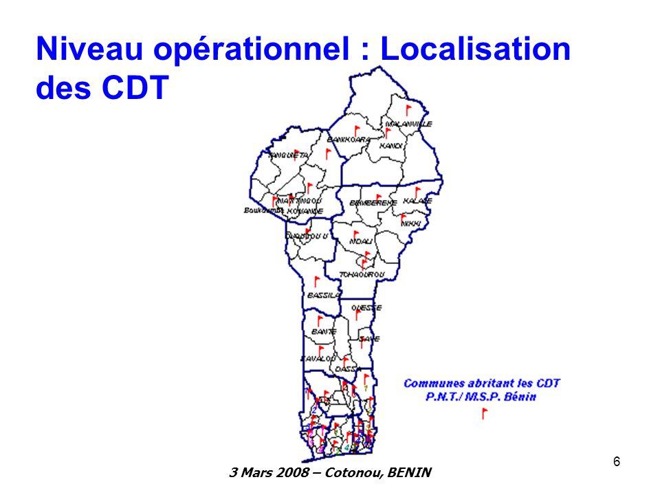 Niveau opérationnel : Localisation des CDT