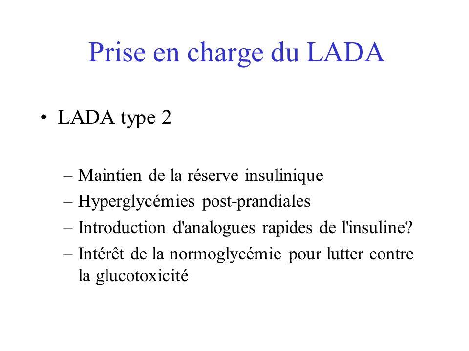 Prise en charge du LADA LADA type 2 Maintien de la réserve insulinique