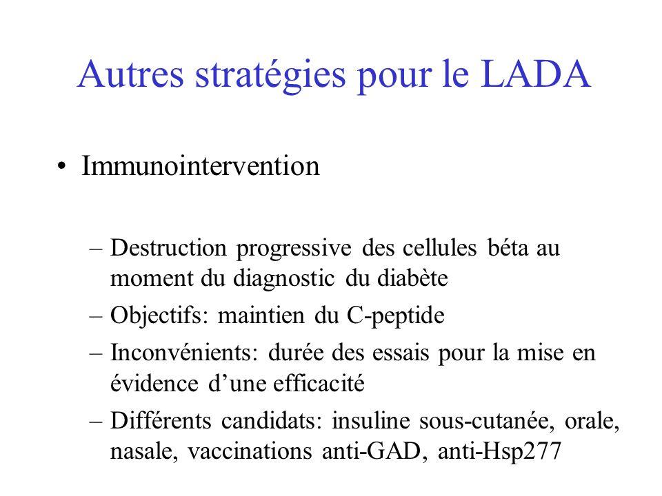 Autres stratégies pour le LADA
