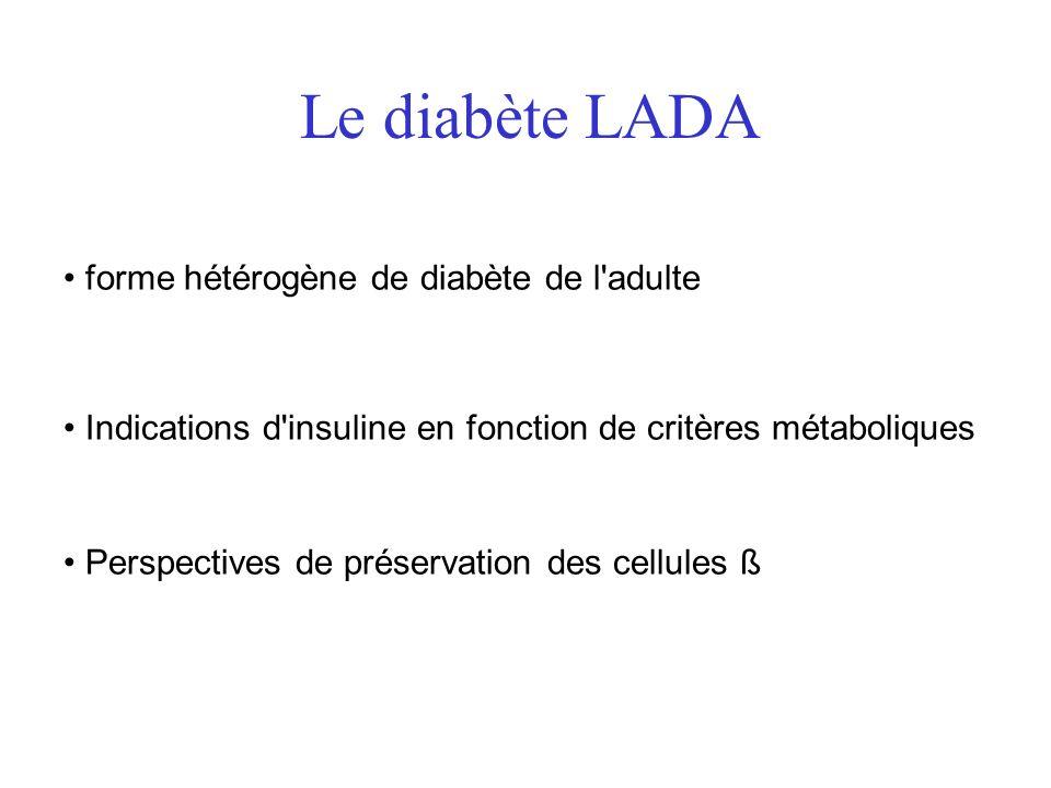 Le diabète LADA forme hétérogène de diabète de l adulte