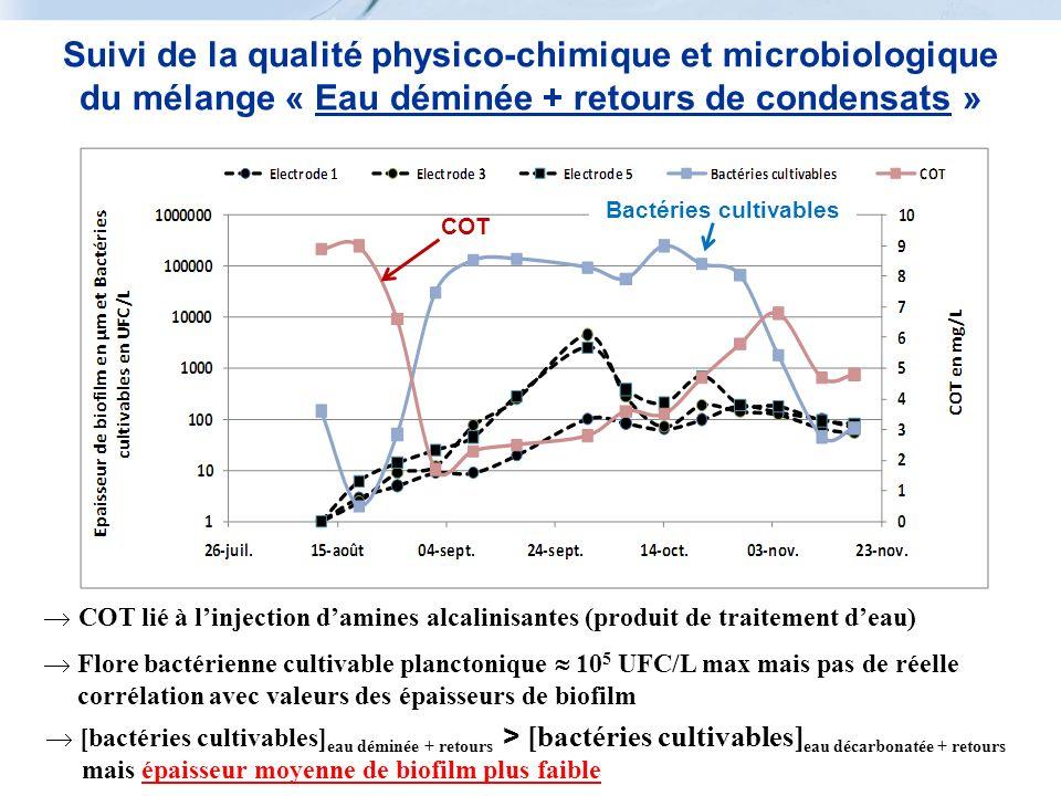 Suivi de la qualité physico-chimique et microbiologique