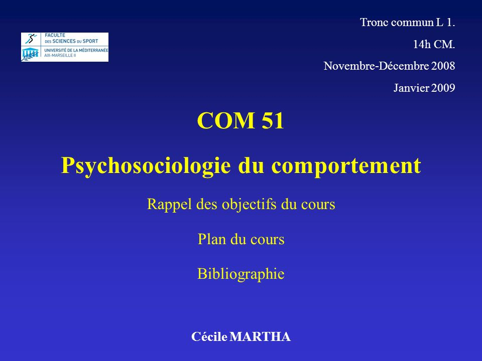 Psychosociologie du comportement