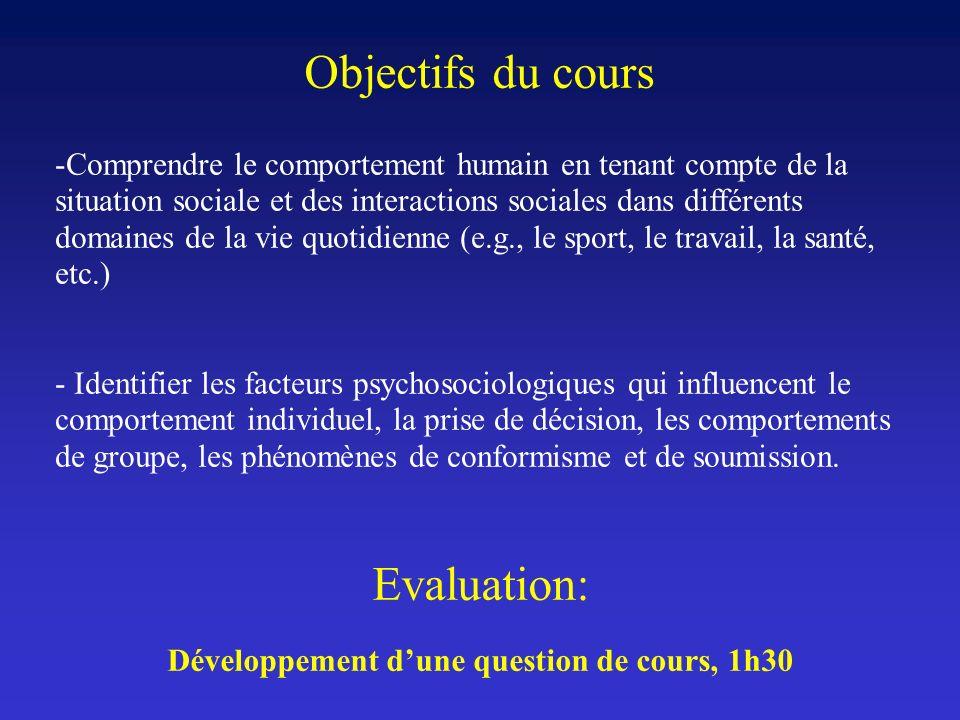 Développement d'une question de cours, 1h30
