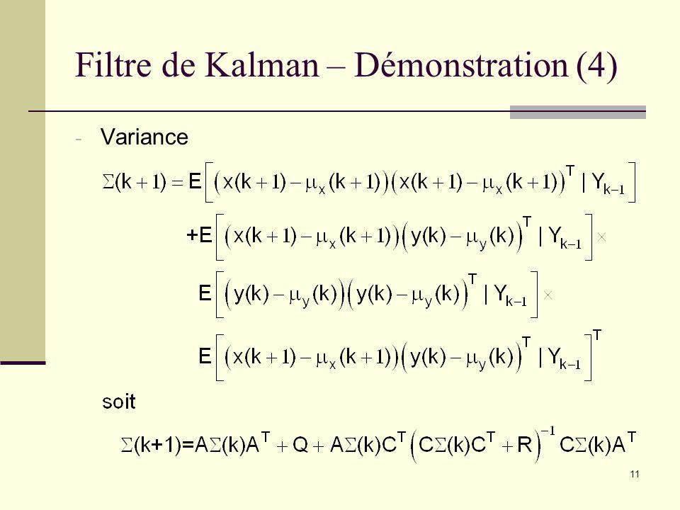 Filtre de Kalman – Démonstration (4)