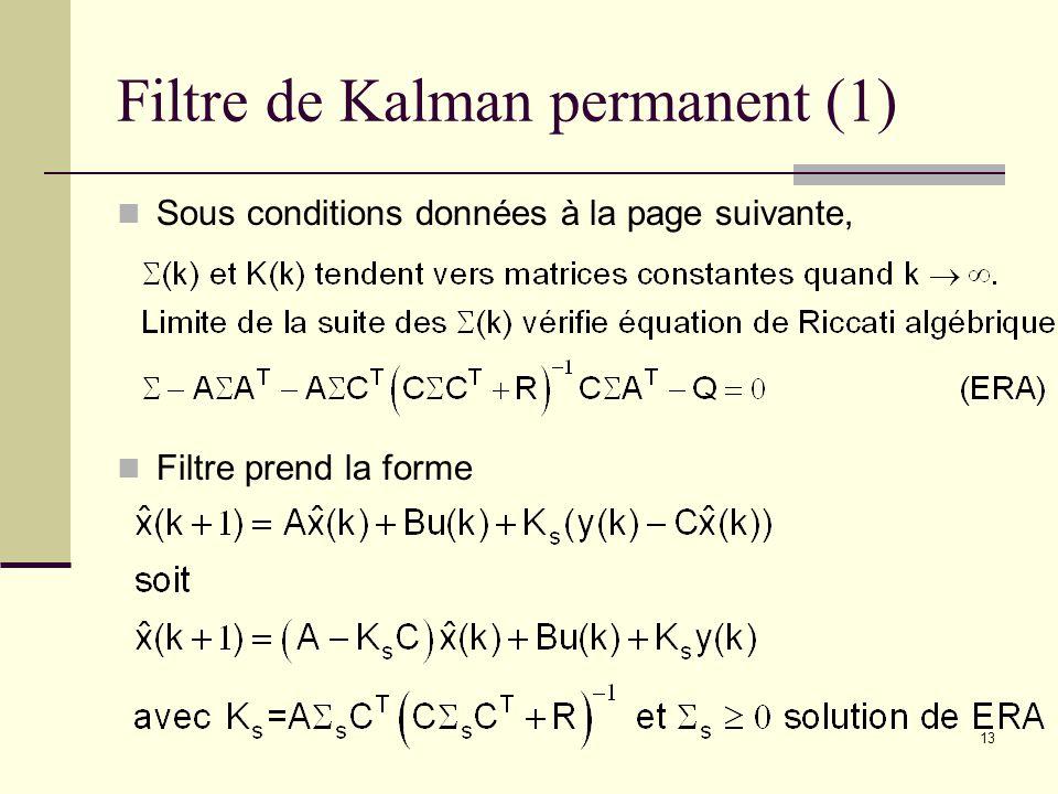 Filtre de Kalman permanent (1)