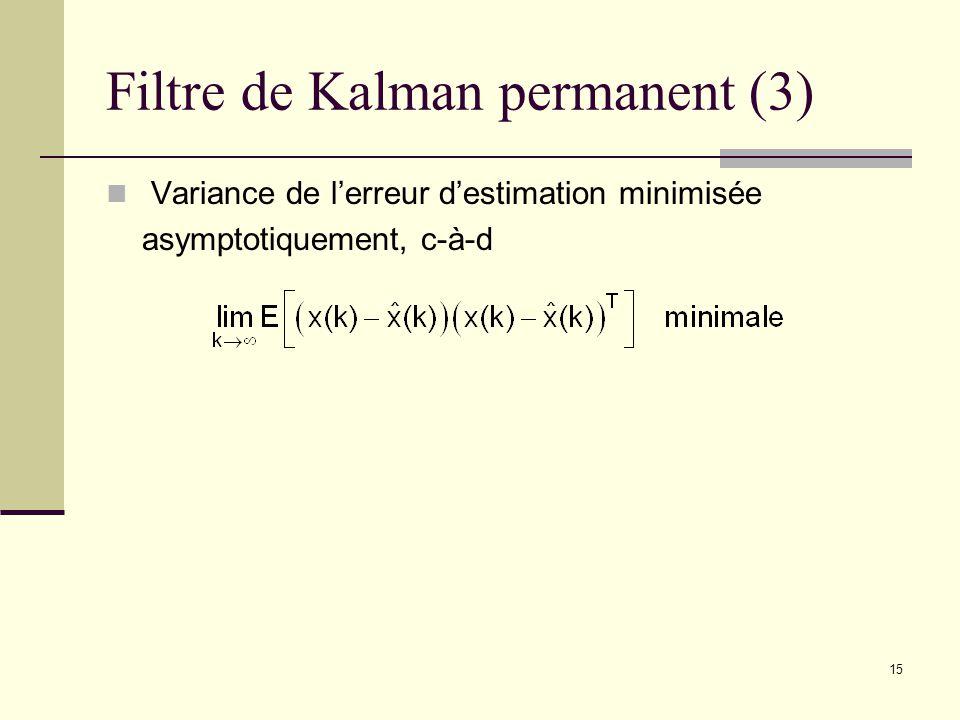 Filtre de Kalman permanent (3)