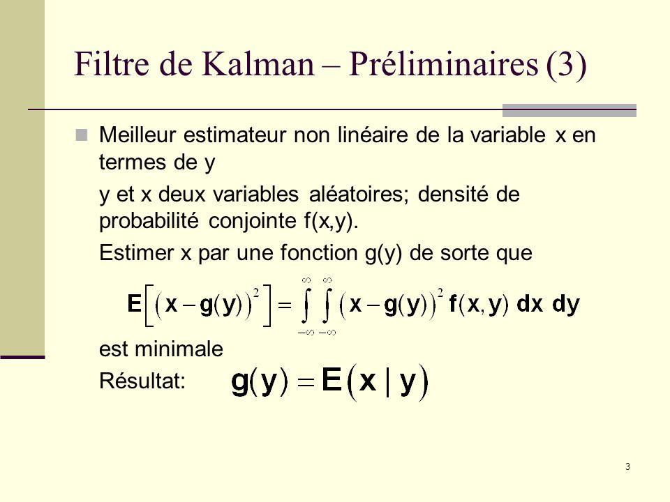 Filtre de Kalman – Préliminaires (3)