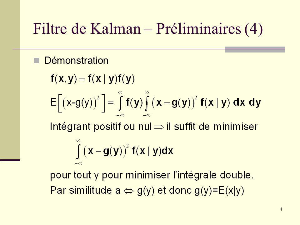 Filtre de Kalman – Préliminaires (4)