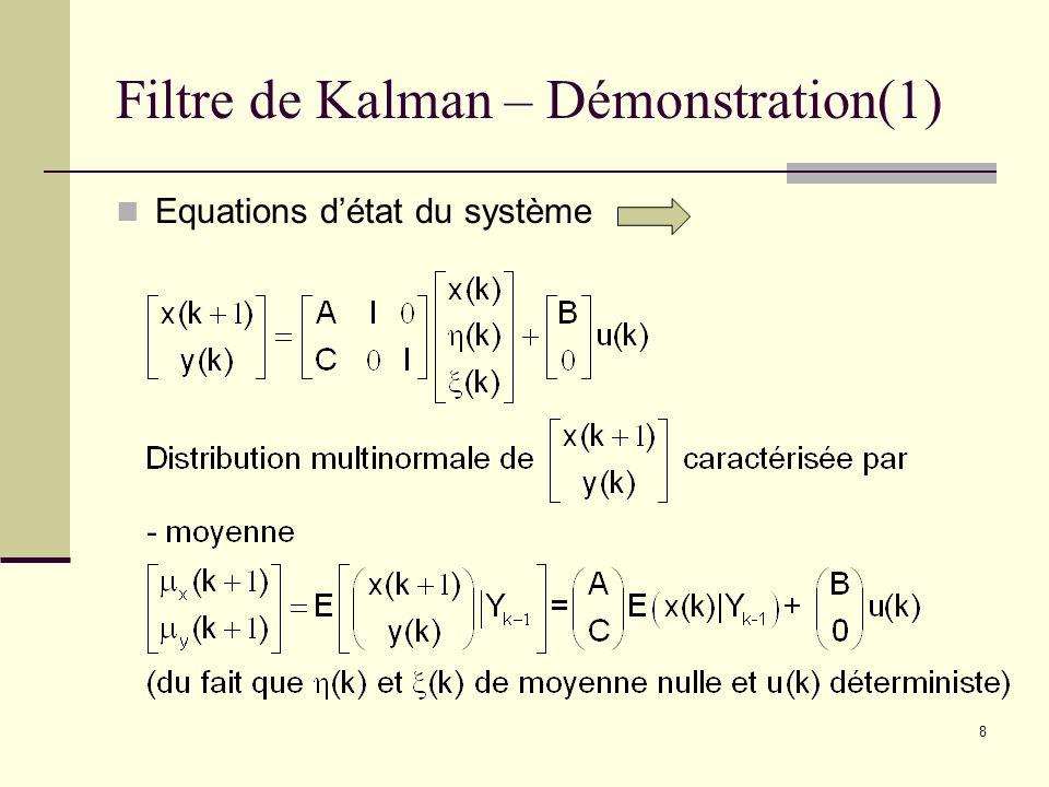 Filtre de Kalman – Démonstration(1)