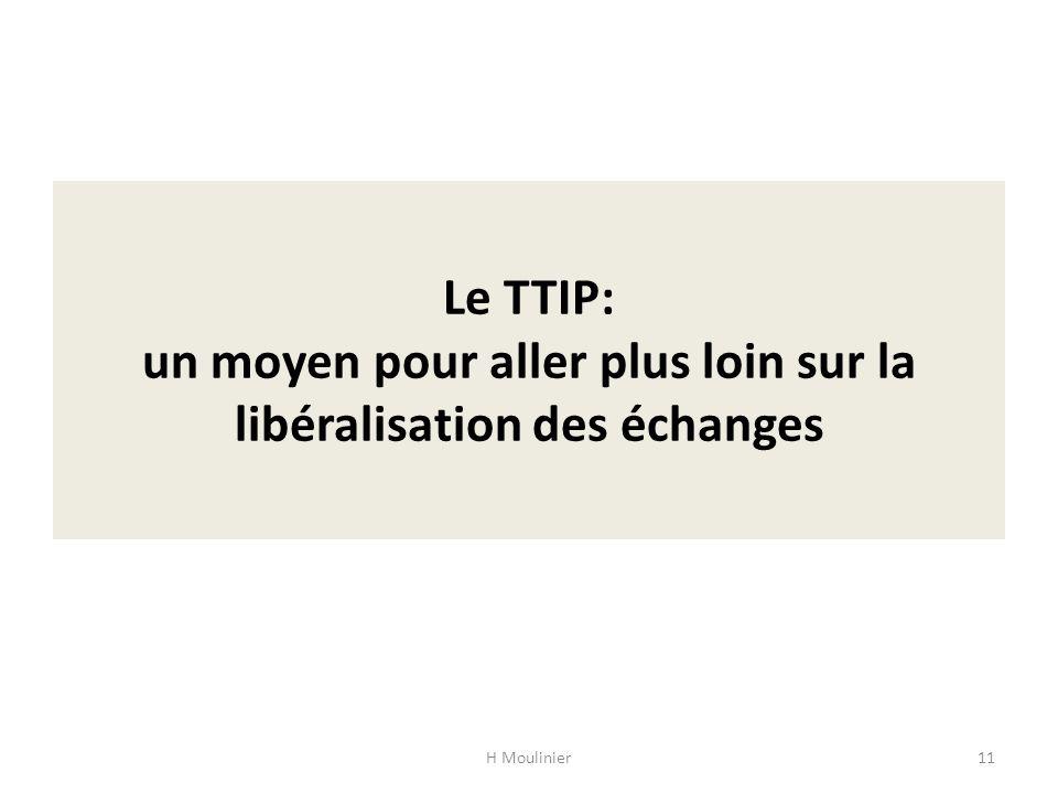 Le TTIP: un moyen pour aller plus loin sur la libéralisation des échanges