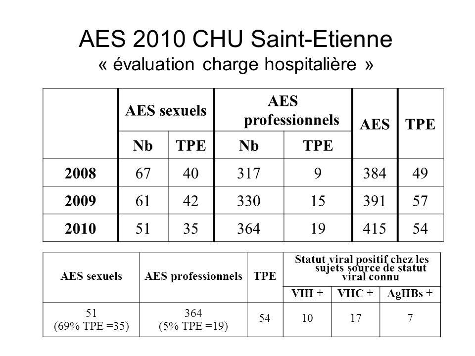 AES 2010 CHU Saint-Etienne « évaluation charge hospitalière »