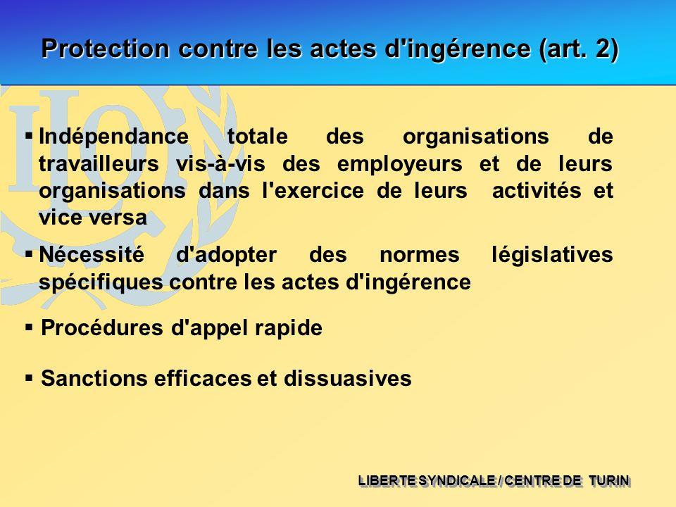 Protection contre les actes d ingérence (art. 2)