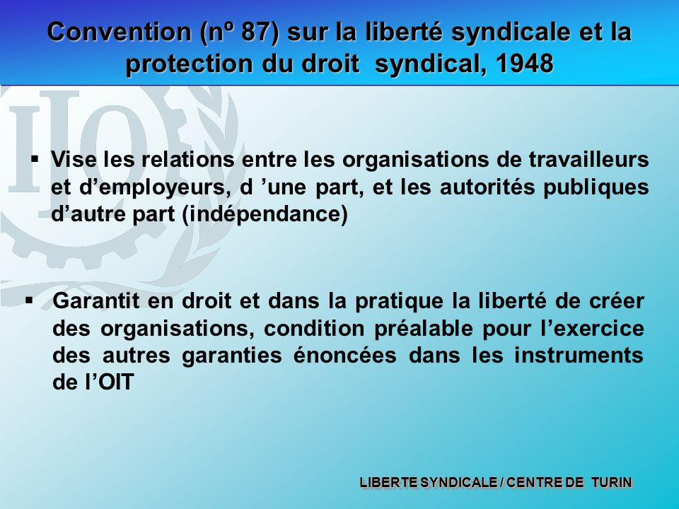Convention (nº 87) sur la liberté syndicale et la protection du droit syndical, 1948