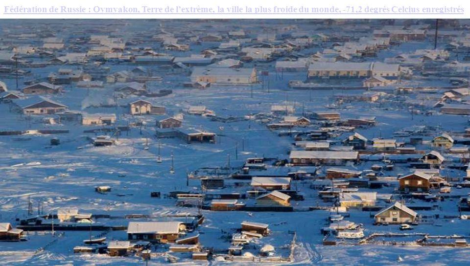 Fédération de Russie : Oymyakon, Terre de l'extrême, la ville la plus froide du monde, -71,2 degrés Celcius enregistrés