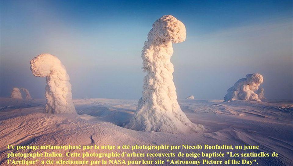 Ce paysage métamorphosé par la neige a été photographié par Niccolò Bonfadini, un jeune photographe Italien.