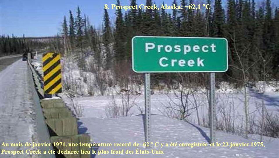 8. Prospect Creek, Alaska: −62,1 °C