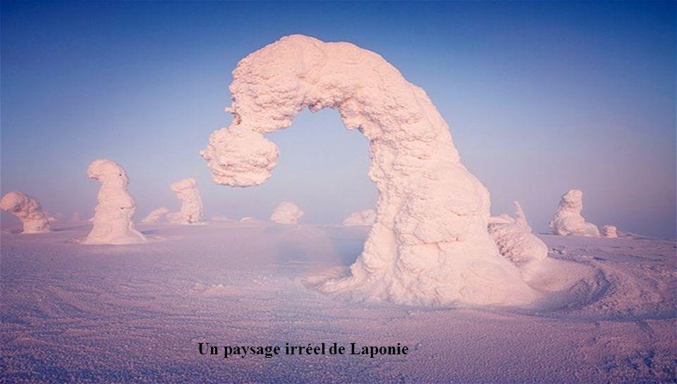 Un paysage irréel de Laponie