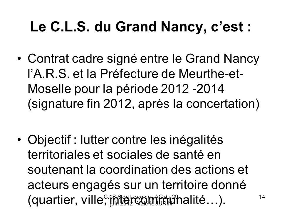 Le C.L.S. du Grand Nancy, c'est :
