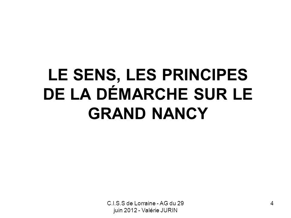 LE SENS, LES PRINCIPES DE LA DÉMARCHE SUR LE GRAND NANCY