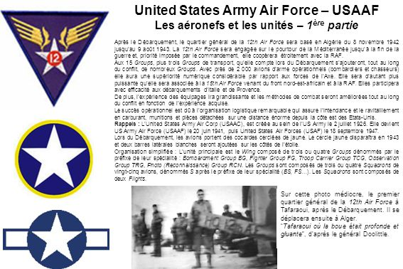 United States Army Air Force – USAAF