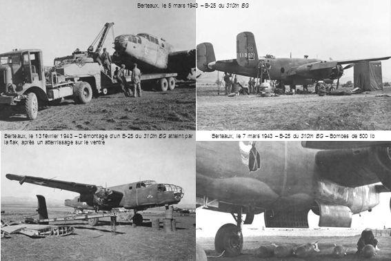 Berteaux, le 5 mars 1943 – B-25 du 310th BG