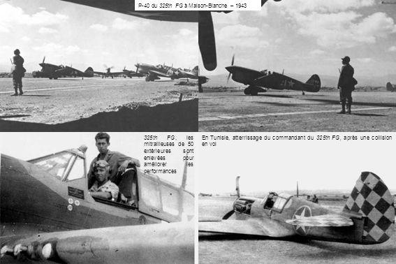 P-40 du 325th FG à Maison-Blanche – 1943