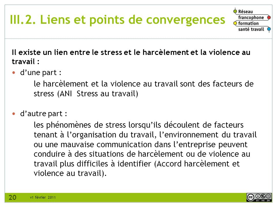 III.2. Liens et points de convergences