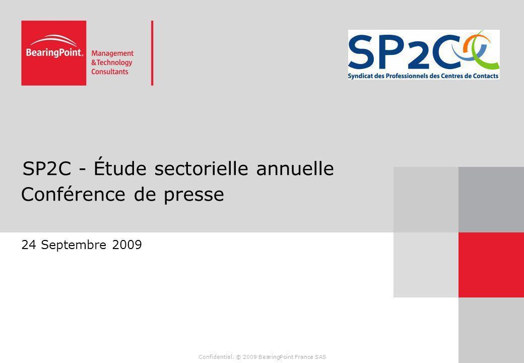 SP2C - Étude sectorielle annuelle Conférence de presse